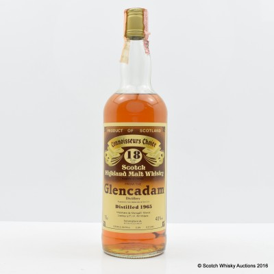 Glencadam 1965 18 Year Old Connoisseurs Choice 75cl