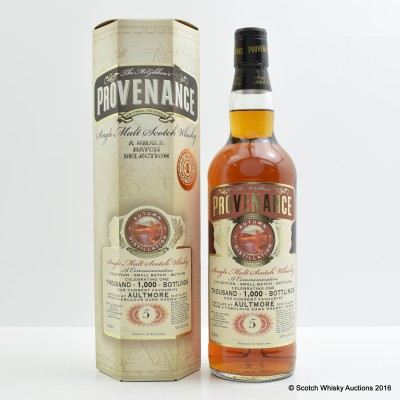 Aultmore 5 Year Old Provenance - 1000 Bottlings