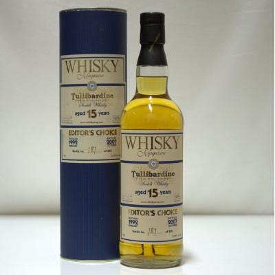 Tullibardine 15 Year Old Whisky Mag Editor's Choice