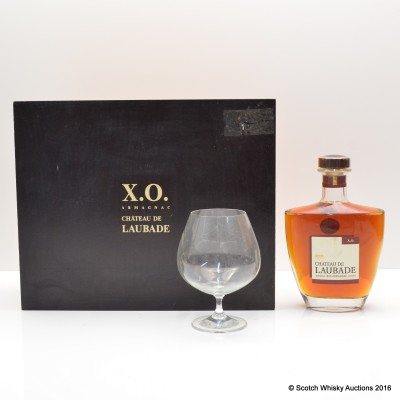 Chateau de Laubade Bas Armagnac XO & Glass Set