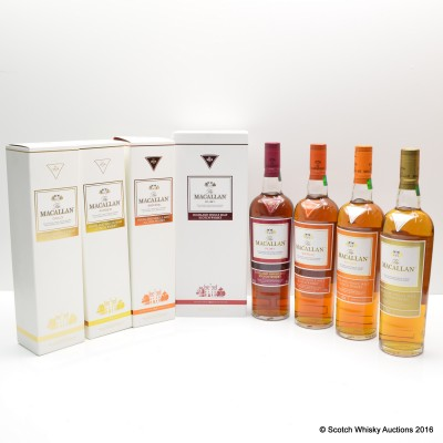 Macallan 1824 Collection Gold, Amber, Sienna & Ruby 4 x 70cl