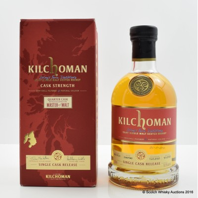 Kilchoman 2010 Quarter Cask Exclusive For Master Of Malt