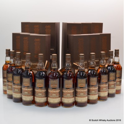 GlenDronach Single Cask Batch #14 Complete Set 12 x 70cl