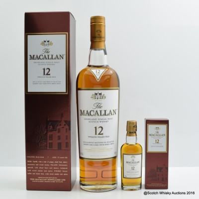 Macallan 12 Year Old With Matching Miniature 5cl