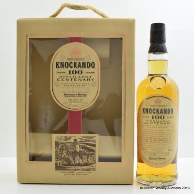 Knockando 100 Years Distillery Centenary 1986 Decanter Set