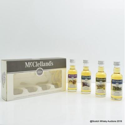 McClelland's Miniature Tasting Set 4 x 5cl
