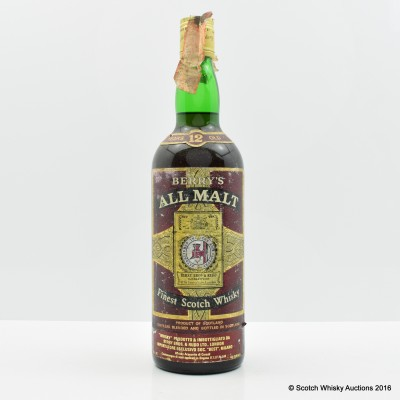 Berry's 12 Year Old All Malt 75cl