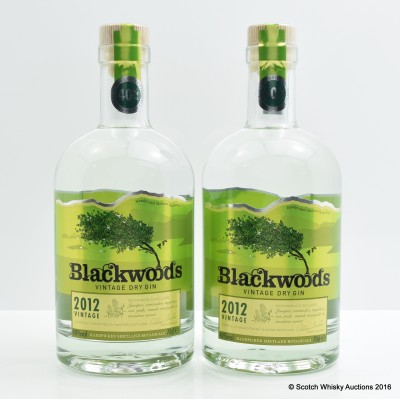 Blackwoods 2012 Superior Vintage Dry Gin 2 x 70cl