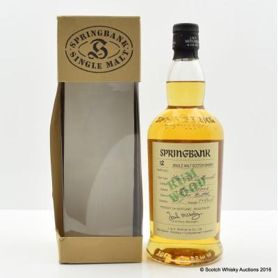 Springbank 1989 12 Year Old Rum Wood