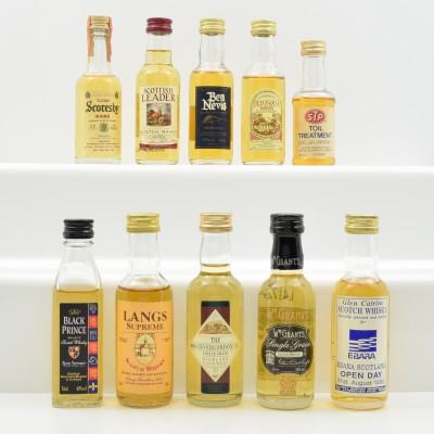 Assorted Miniatures 10 x 5cl Including Grant's Single Grain 5cl