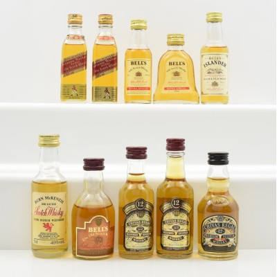 Assorted Miniatures 10 x 5cl Including Bell's Islander 5cl