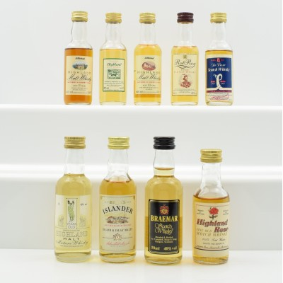 Assorted Miniatures 9 x 5cl Including Rob Roy 5cl