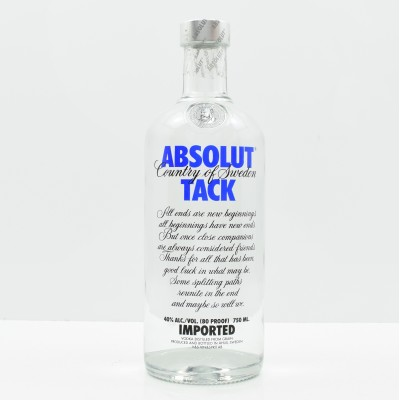 Absolut Vodka Tack 75cl