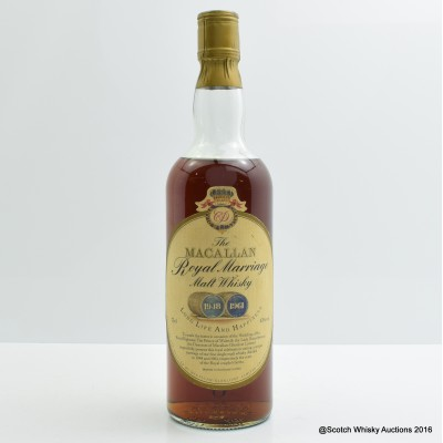 Macallan Royal Marriage 1948 and 1961 75cl