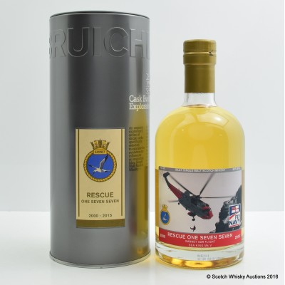 Bruichladdich Single Cask 2004 10 Year Old for Rescue One Seven Seven Gannet SAR Flight