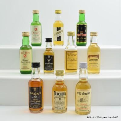 Assorted Miniatures 10 x 5cl Including Teacher's Highland Cream 5cl