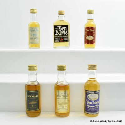 Ben Nevis Miniatures 6 x 5cl Including Dew of Ben Nevis 12 Year Old 5cl