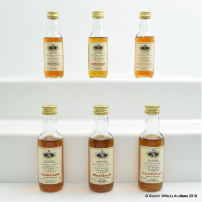 Assorted Miniatures to Commemorate The Marriage Of H.R.H Prince Andrew To Miss Sarah Ferguson 6 x 5cl Including Mortlach