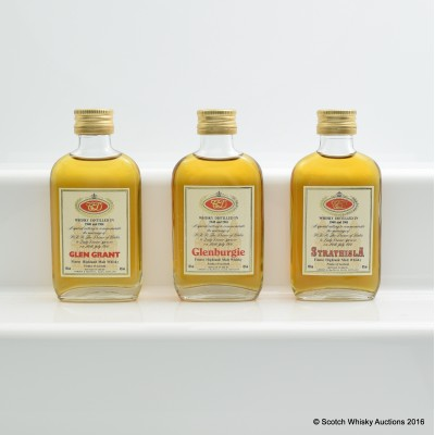 Assorted Miniatures to Commemorate The Marriage Of H.R.H Prince Of Wales To Lady Diana Spencer 3 x 5cl Including Glenburgie