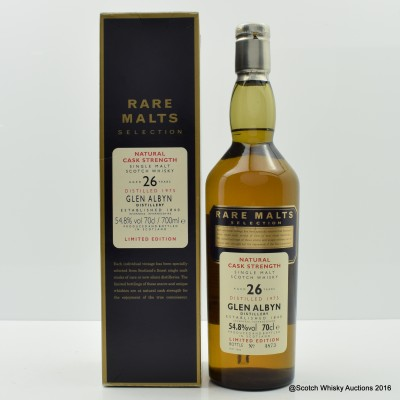 Rare Malts Glen Albyn 1975 26 Year Old