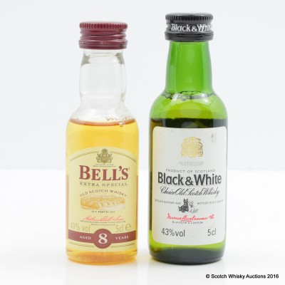 Bell's 8 Year Old Mini 5cl & Black and White Mini 5cl