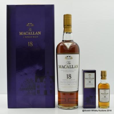 Macallan 18 Year Old 1991 & Mini Set