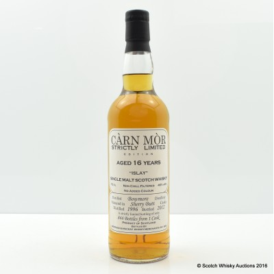 Bowmore 1996 16 Year old Carn Mor