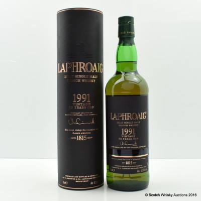 Laphroaig 1991 23 Year Old Vintage