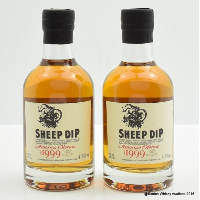 Sheep Dip 1999 9 Year Old Amoroso Cask 20cl x 2