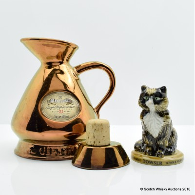 Glenturret 21 Year Old Copper Flagon & Towser Figurine