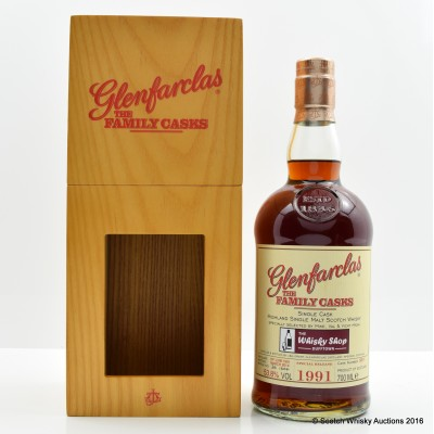 Glenfarclas 1991 Family Cask #5691 for The Whisky Shop Dufftown