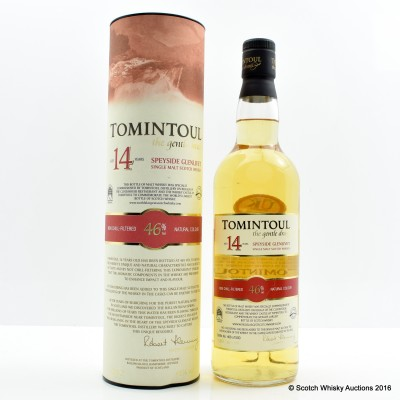 Tomintoul 14 Year Old for The Whisky Castle & The Clockhouse Restaurant