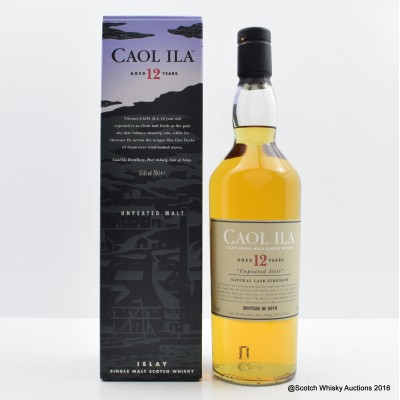 Caol Ila 12 Year Old Unpeated 2010 Release