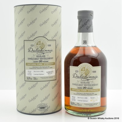 Dalwhinnie 1986 20 Year Old Cask Strength