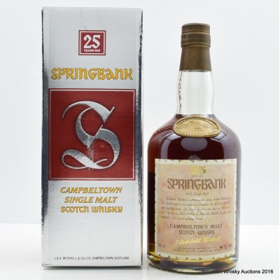 Springbank 25 Year Old Old Style