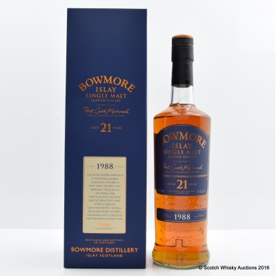 Bowmore 1988 21 Year Old Port Cask