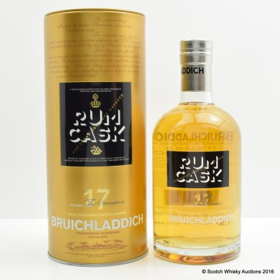 Bruichladdich 17 Year Old Rum Cask Edition