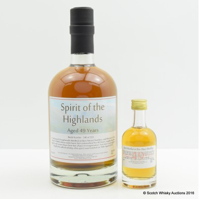 Ben Nevis 1966 49 Year Old Spirit Of The Highlands Whisky Broker 50cl & Matching Mini 5cl