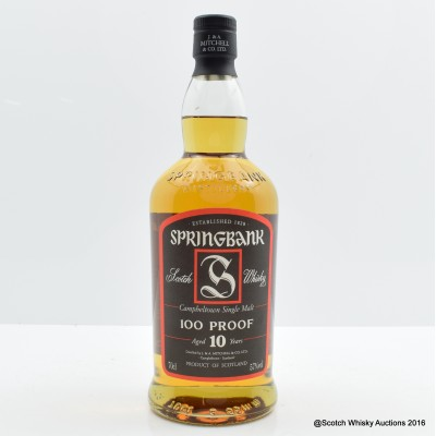 Springbank 10 Year Old 100° Proof