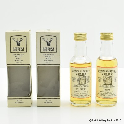 Banff 1974 Connoisseurs Choice Mini 5cl & Coleburn 1972 Connoisseurs Choice Mini 5cl
