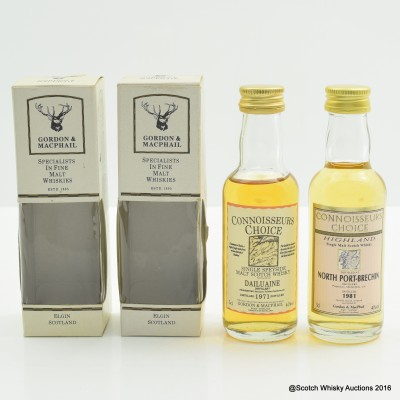Dailuaine 1971 Connoisseurs Choice Mini 5cl & North Port-Brechin 1981 Connoisseurs Choice Mini 5cl