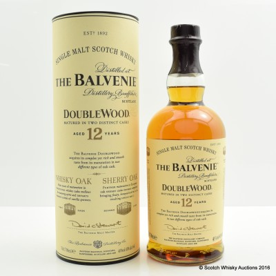 Balvenie 12 Year Old DoubleWood with Leather Coasters x 4