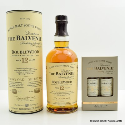 Balvenie 12 Year Old DoubleWood & Triple Cask Tasting Collections Minis 2 x 5cl