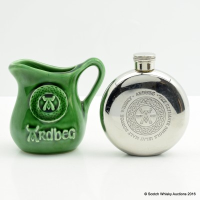 Ardbeg Hip Flask & Ardbeg Small Water Jug