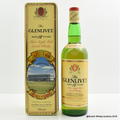 Glenlivet 12 Year Old Classic Golf Courses Carnoustie 75cl