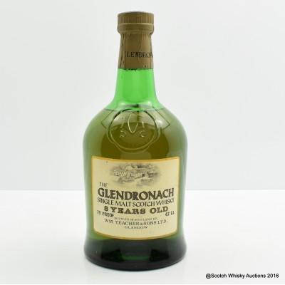 Glendronach 8 Year Old Dumpy Bottle