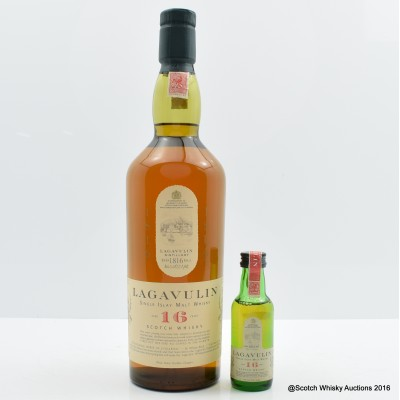 Lagavulin 16 Year Old White Horse Bottling (with Mini)