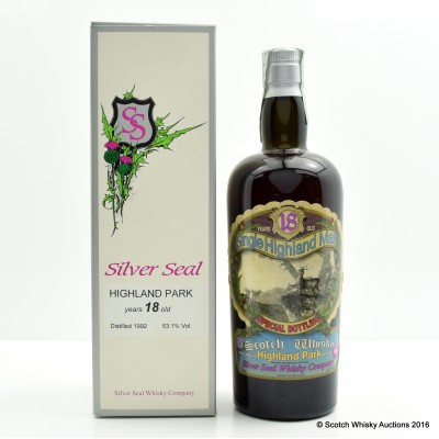 Highland Park 1992 18 Year Old Single Barrel 30th Anniversary Silver Seal