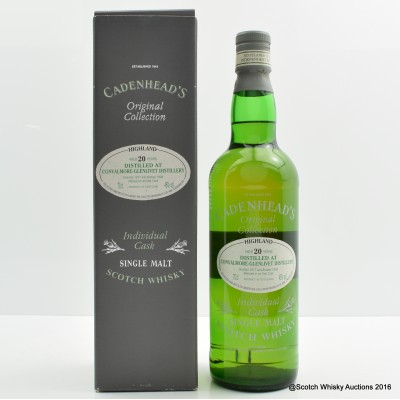 Convalmore-Glenlivet 1977 20 Year Old Cadenhead's