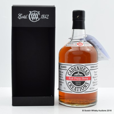 Cadenhead's Creations 36 Year Old Rich Fruity Sherry